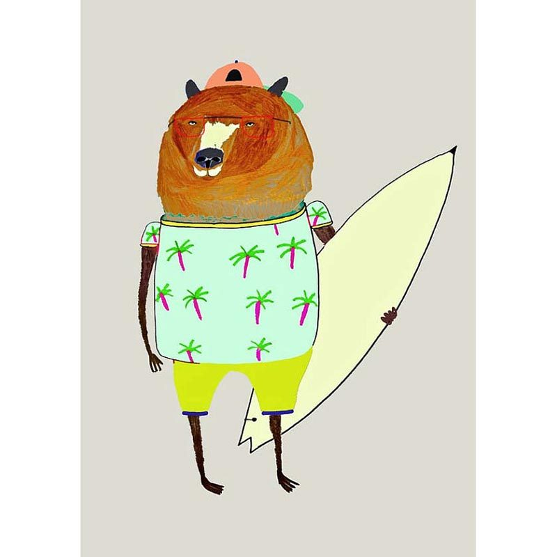Surfer Dude Bear
