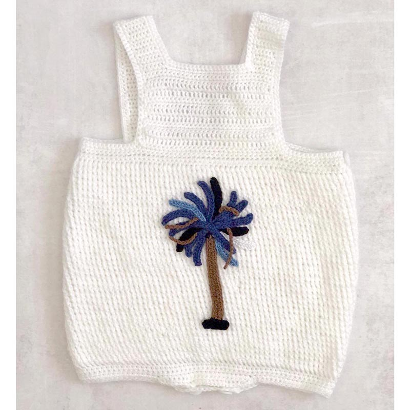 White Blue Palm